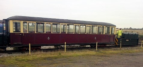 image:- Carriage 118, being hauled by NG24
