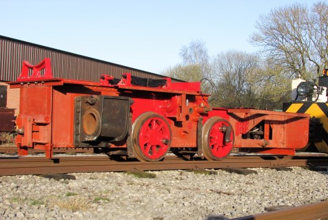 image:- O&K 7529 chassis, being shunted by NG24