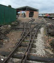 image: New trackwork outside Running Shed